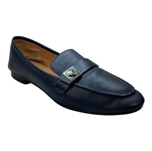 Kate Spade Catroux Navy Leather Loafers Flats 10